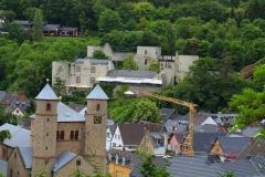 Bad Münstereifel, Blick auf die Stiftskirche und Eifelburg