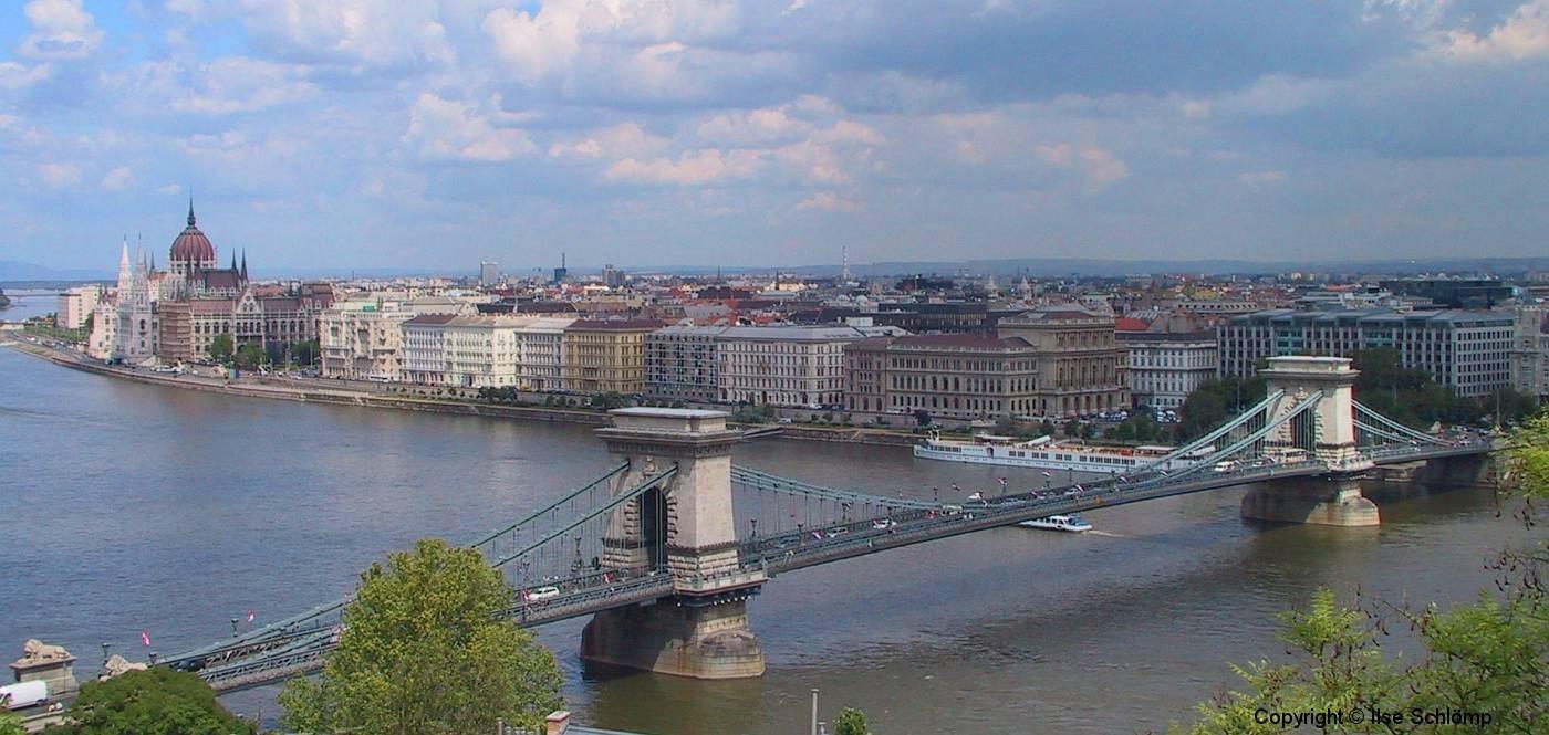 Ungarn, Budapest, Kettenbrücke