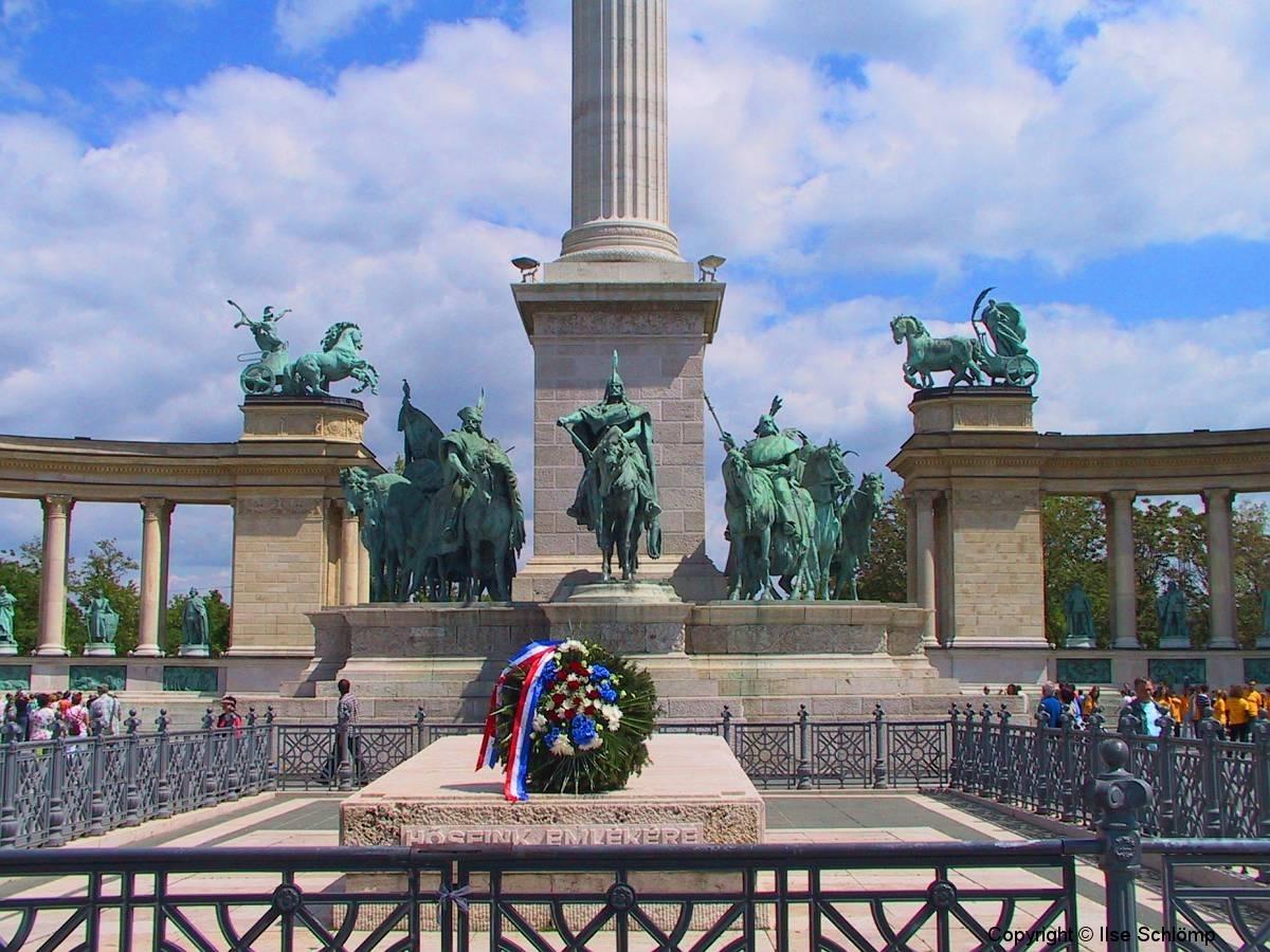 Ungarn, Budapest, Heldenplatz, Millenniumsdenkmal