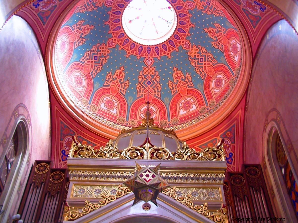 Ungarn, Budapest, Große Synagoge, Innenansicht