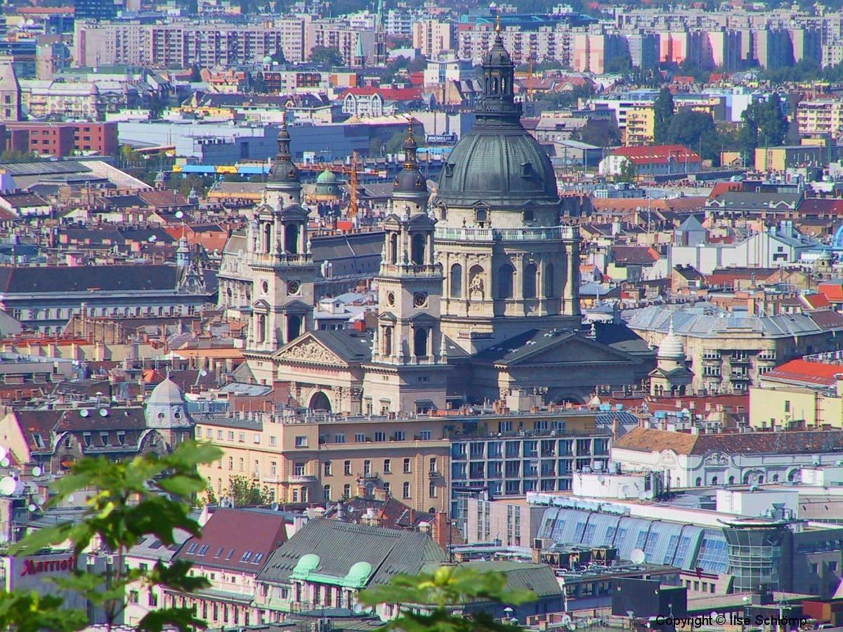 Ungarn, Budapest, Blick auf die St. Stephans Basilika