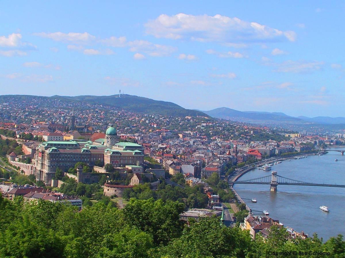 Ungarn, Budapest, Blick auf den Burgpalast