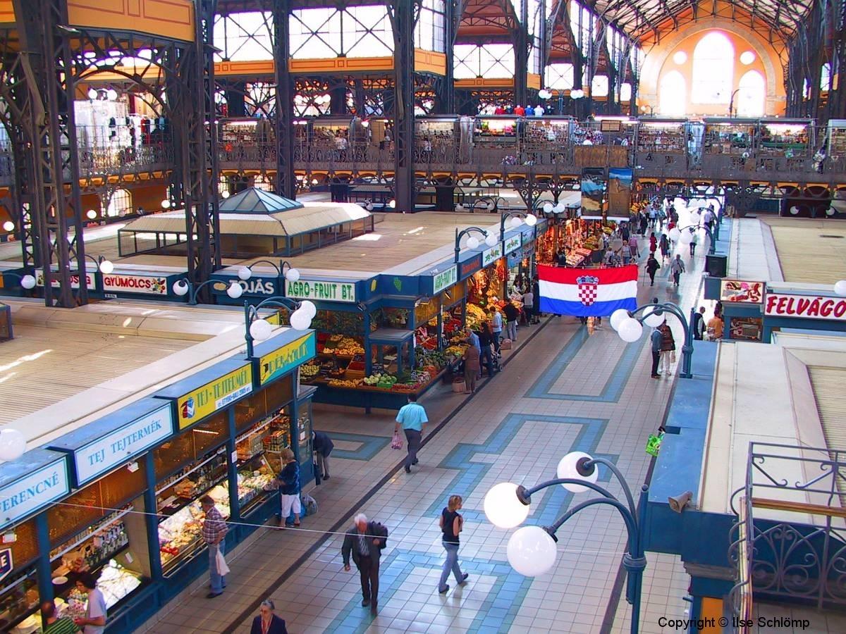 Ungarn, Budapest, Zentrale Markthalle von innen