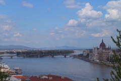 Ungarn, Budapest, Blick auf das Parlamentsgebäude