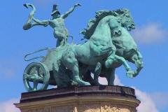 Budapest, Heldenplatz, Kolonnade