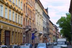 Ungarn, Budapest, Straßenansicht
