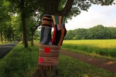 Cuxland, Loxstedt 2012, In Loxstedt müssen sich die Bäume wegen der geplanten Küstenautobahn A20 warm anziehen