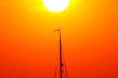 Cuxland, Wurster Nordseeküste, Cappel-Neufeld 2018, Sonnenuntergang