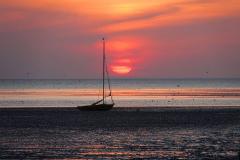 Cuxland, Wurster Nordseeküste, Cappel-Neufeld 2020, Sonnenuntergang