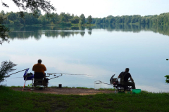 Cuxland, Loxstedt-Stotel 2020, Angler am Stoteler See
