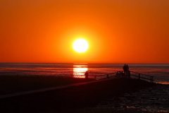 Cuxland, Wurster Nordseeküste, Cappel-Neufeld  2021, Sonnenuntergang