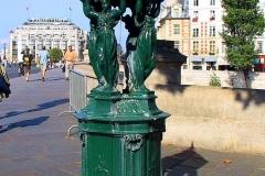Frankreich, Paris, Wallace-Brunnen (Trinkwasserspender)