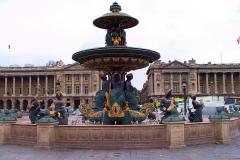 Frankreich, Paris, Brunnen der Meere am Platz de la Concorde