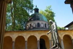Potsdam, Park Sanssouci, Friedenskirche, Christusstatue