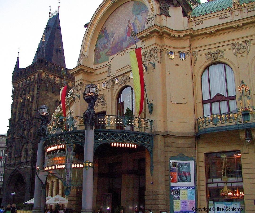 Tschechische Republik, Prag, Jugendstil-Gebäude Gemeindehaus