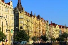 Prag, Jugendstilhäuser an der Moldau