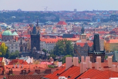 Prag, Blick vom Hradschin auf die Karlsbrücke