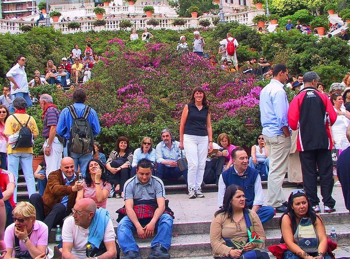 Italien, Rom, Spanische Treppe