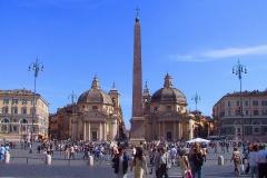 Rom, Obelisk Flaminio auf der Piazza del Popolo