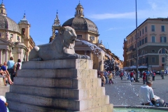 Rom, Piazza del Popolo, Löwenbrunnen