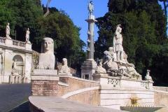 Rom, Fontana della Dea Roma auf der Piazza del Popolo