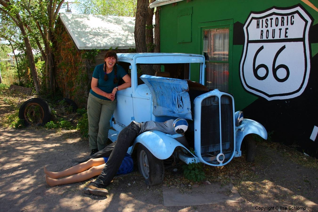 USA, Arizona, Route 66, Bonnie and Clyde