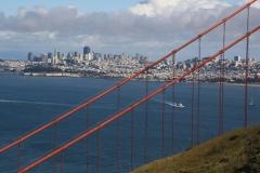 San Francisco, Blick von der Golden Gate Bridge auf San Francisco