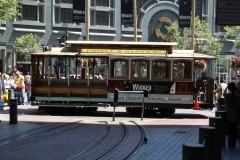 San Francisco, Cable Car auf dem Wendeplatz