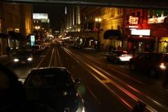 San Francisco, Fahrt mit der Cable Car bei Nacht