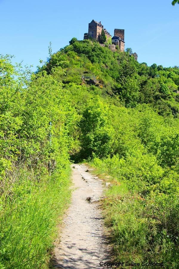 Rheinland-Pfalz, Oberwesel, Elfenley-Weg zur Schönburg