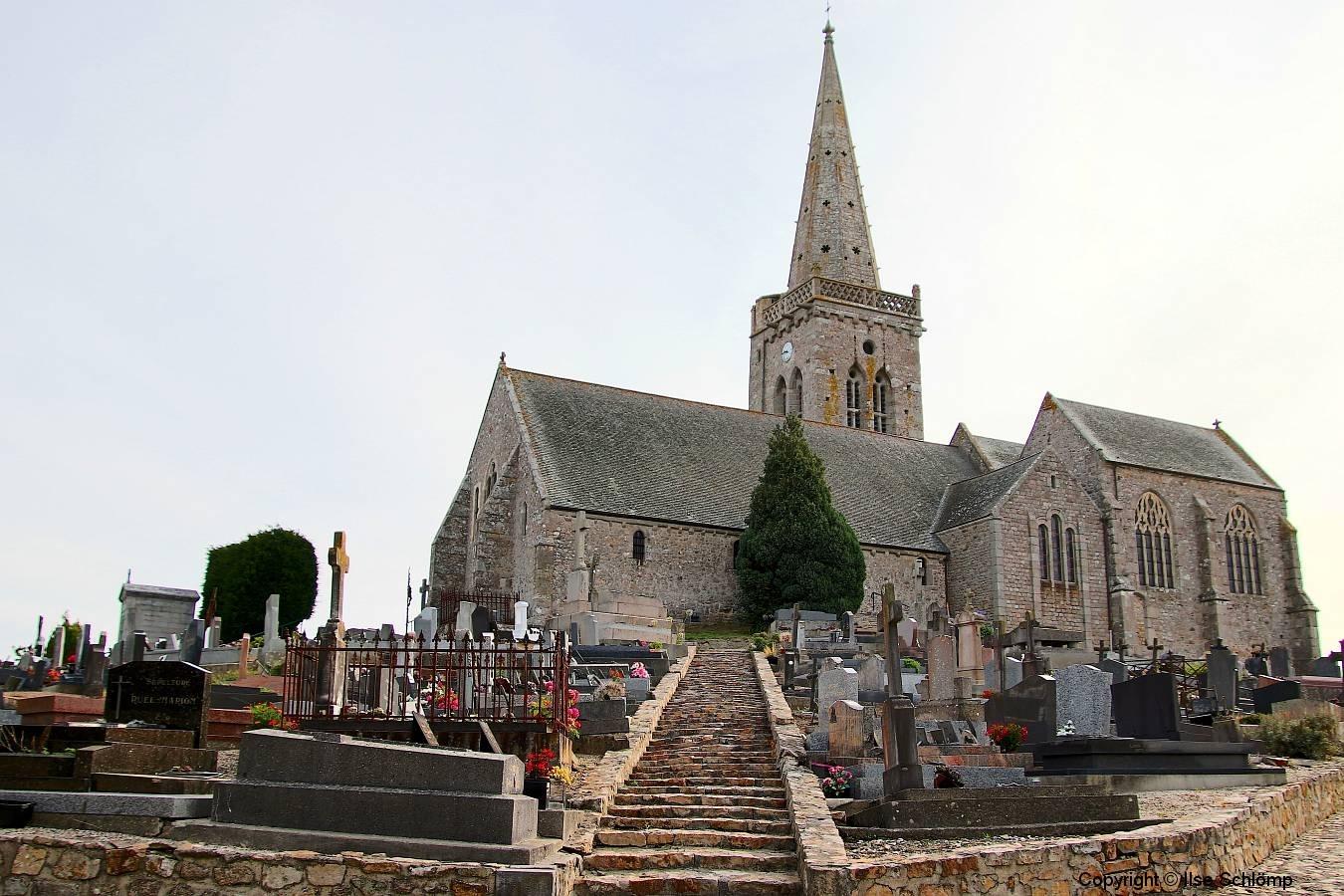 Frankreich, Normandie, Reville, Eglise Saint-Nicolas