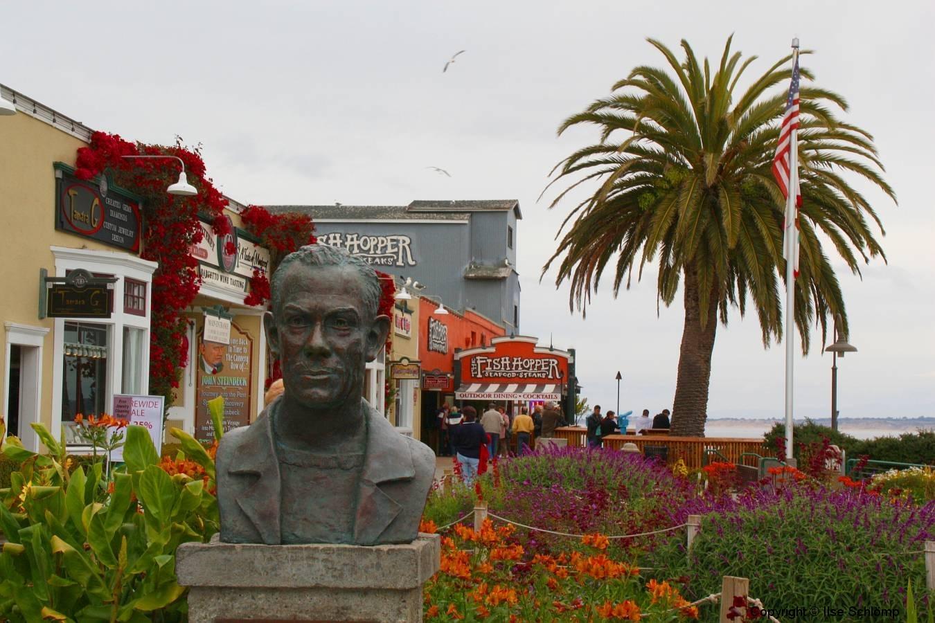 USA, Kalifornien, Monterey, John Steinbeck Denkmal
