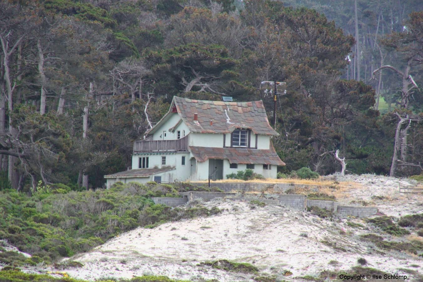 """USA, Kalifornien, Monterey, In diesem Haus wurde der Film """"Die Vögel"""" von Hitchcock gedreht"""