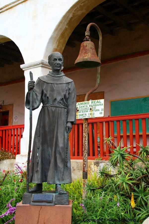 USA, Kalifornien, Santa Barbara, Mission, Denkmal Fray Junipero Serra