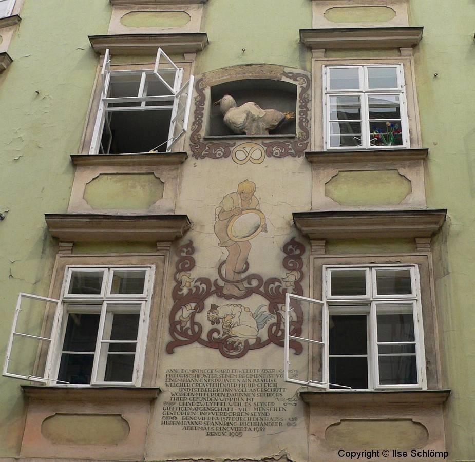 Österreich, Wien, Schönlaterngasse, Basiliskenhaus