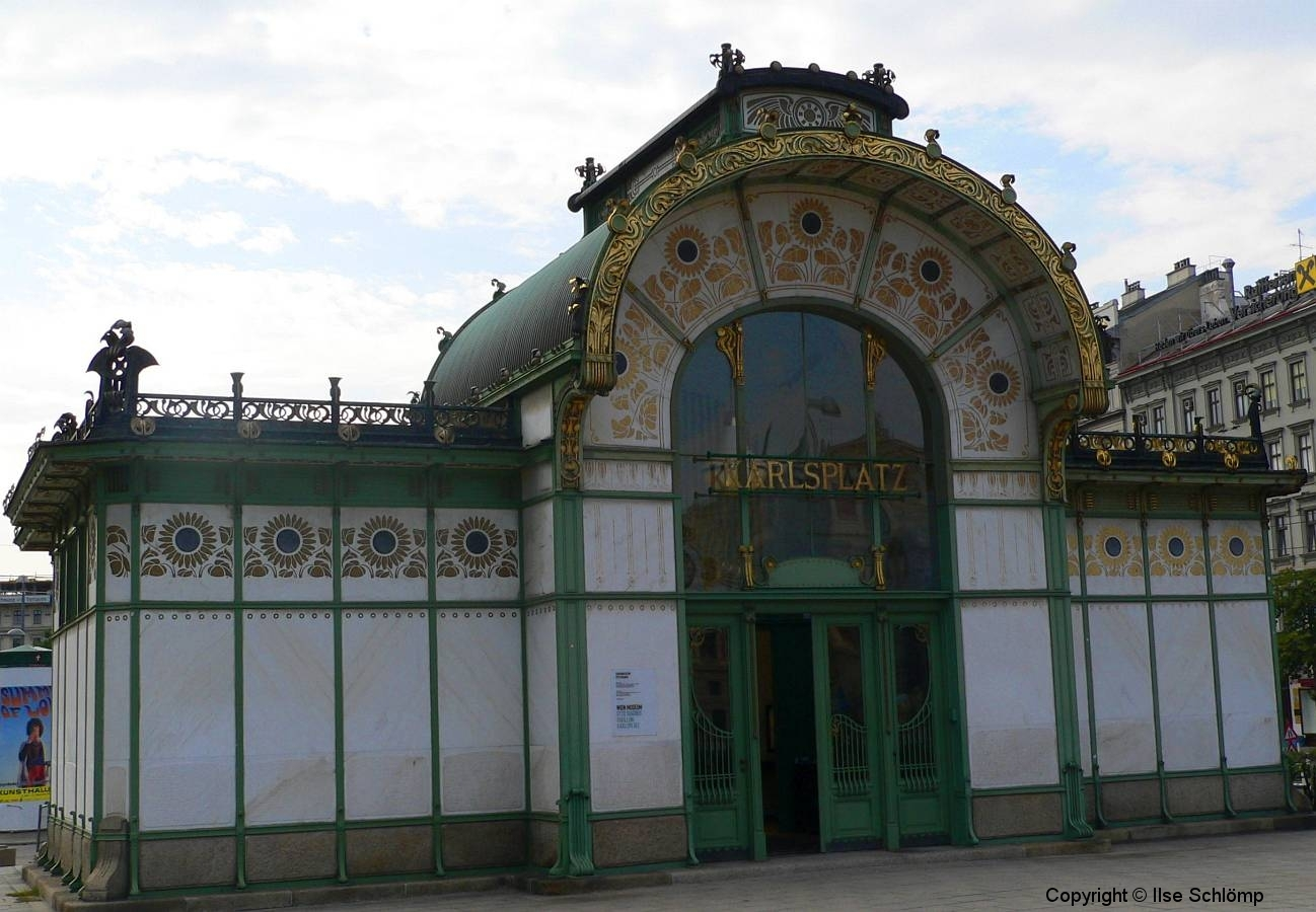 Wien, Karlsplatz, Jugendstil Stadtbahnstation