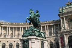 Österreich, Wien, Hofburg, Reiterstandbild