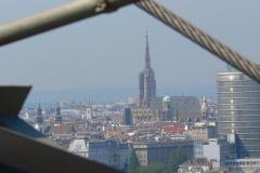 Wien, Blick vom Riesenrad Prater auf den Stephansdom
