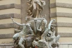 """Wien, Hofburg, Brunnen """"Macht zur See"""""""
