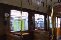 Wien, altes Straßenbahnabteil