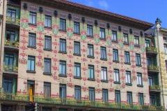 "Wien, Jugendstilfassade ""Majolikahaus"""
