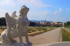 Wien, Schloss Belvedere, Sphinx im Garten des Belvederes