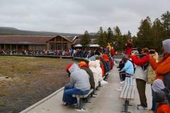 Yellowstone Nationalpark, Warten auf den Old Faithful Geysir