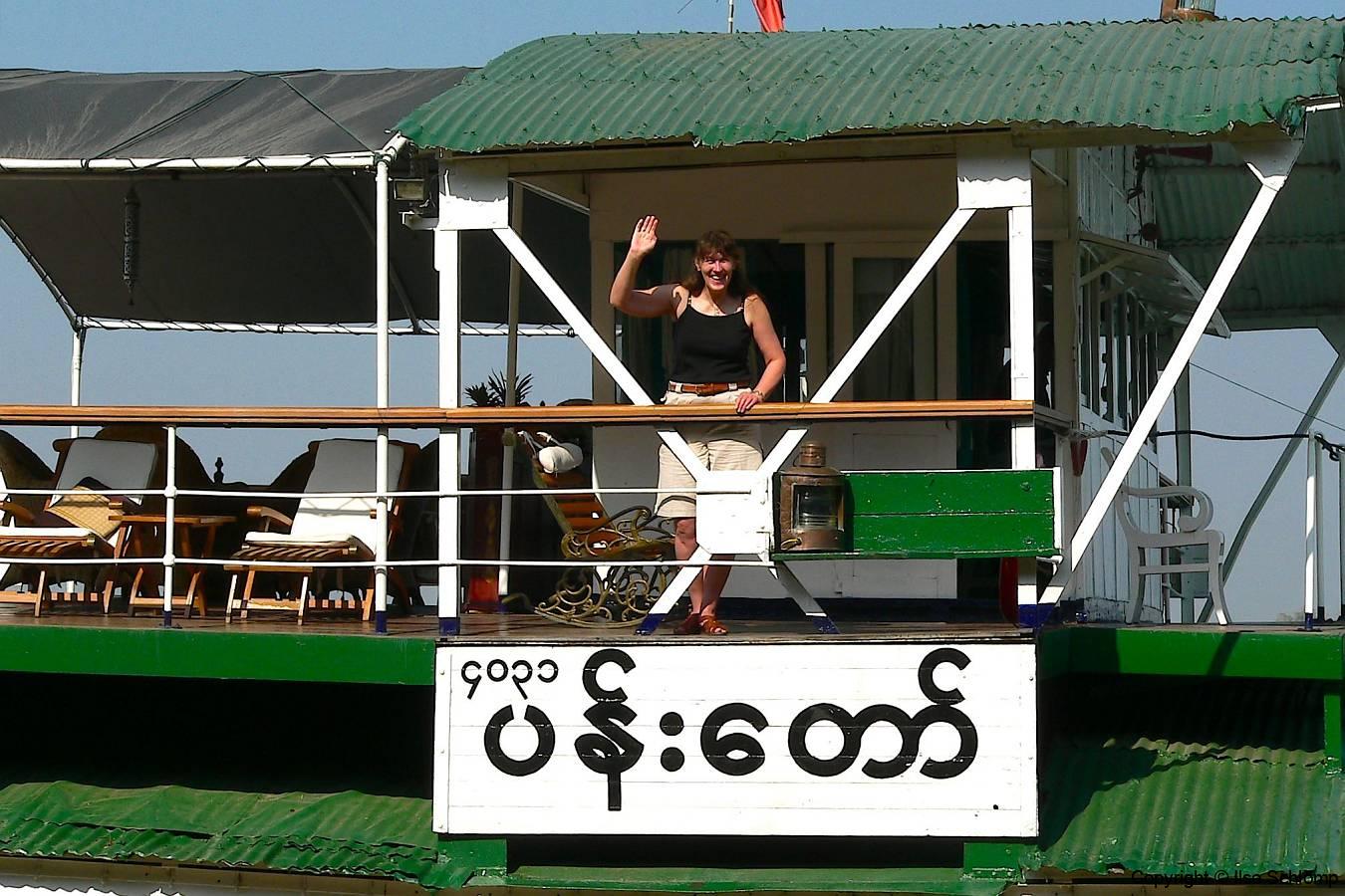 Myanmar, Irrawaddy, Auf der Pandaw