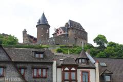 Bacharach, Blick auf Burg Stahleck