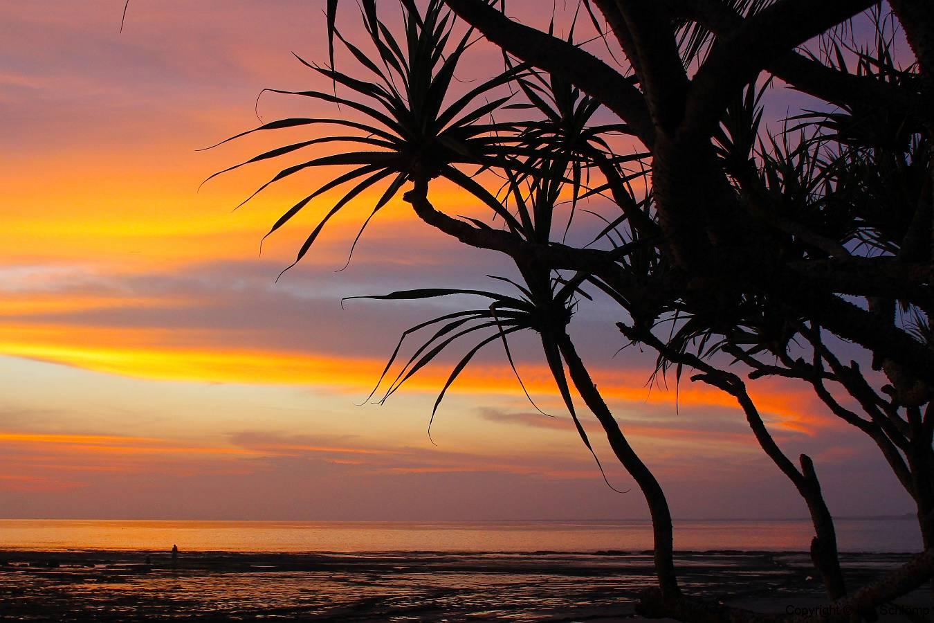 Bali, Puri Dajuma Cottages, Sonnenuntergang