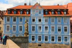 Bamberg, Blaues Haus an der Regnitz