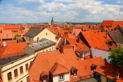 Bamberg, Blick über die roten Dächer von Bamberg
