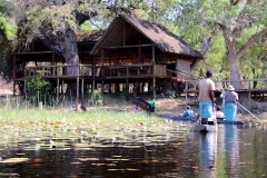 Botswana, Okavango Delta, Mokoro-Tour