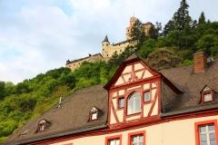 Braubach, Blick von Schloss Philippsburg auf die Marksburg